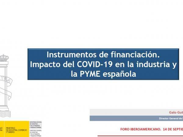Instrumentos de financiación: impacto del COVID-19 en la industria y la pyme española