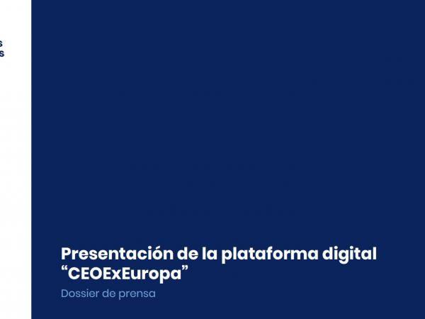 "Presentación plataforma ""CEOExEuropa"""