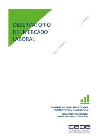 Observatorio del mercado laboral - Abril 2020